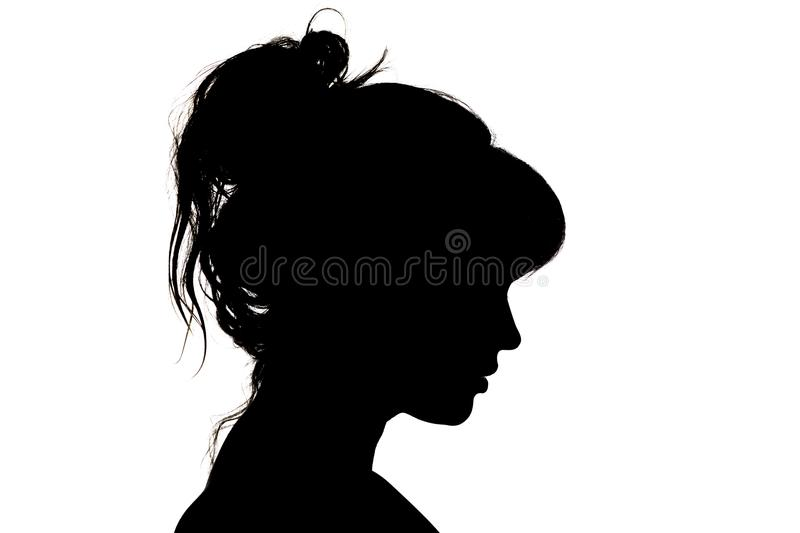 Silhouette of beautiful profile of female head concept beauty and fashion royalty free stock image
