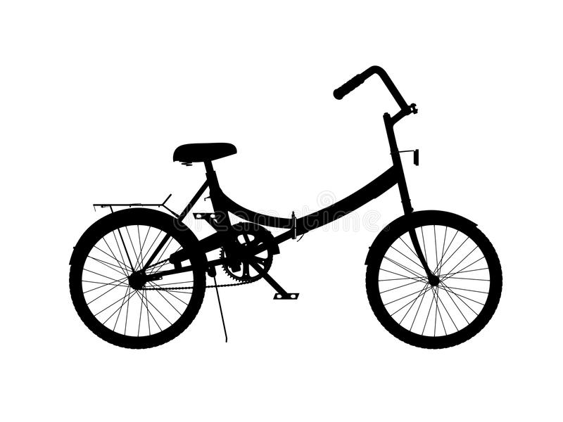 Silhouette of bicycle stock illustration