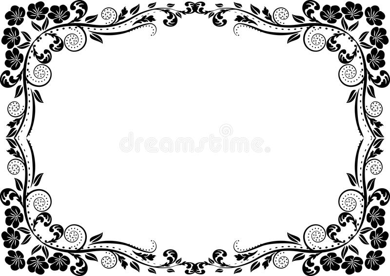 Silhouette Border Stock Photography
