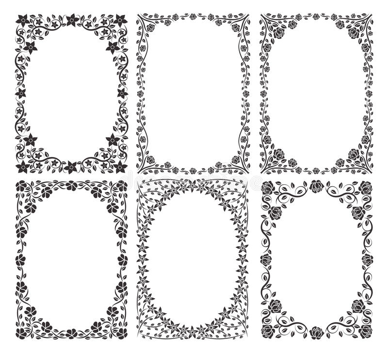 Download Silhouette borders stock vector. Image of patterns, flourish - 22230412