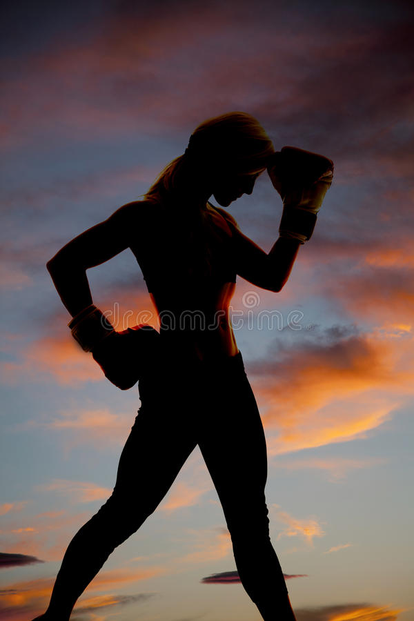 Download Silhouette boxer hand head stock image. Image of girl - 27328669