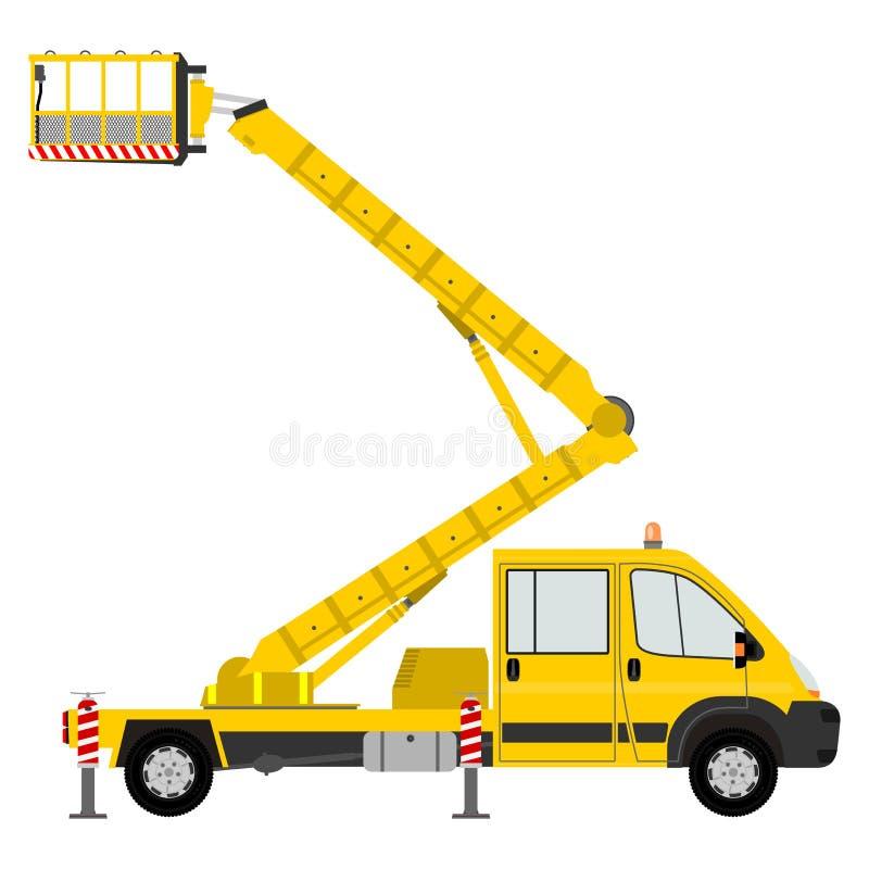 Download Cartoon Bucket Truck Stock Vector Illustration Of Equipment