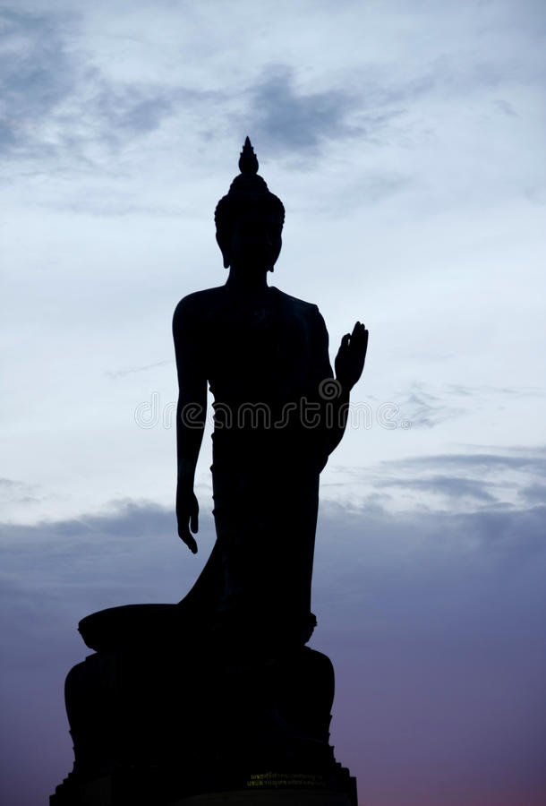 Download Silhouette Of Buddha Statue Stock Images - Image: 34051364