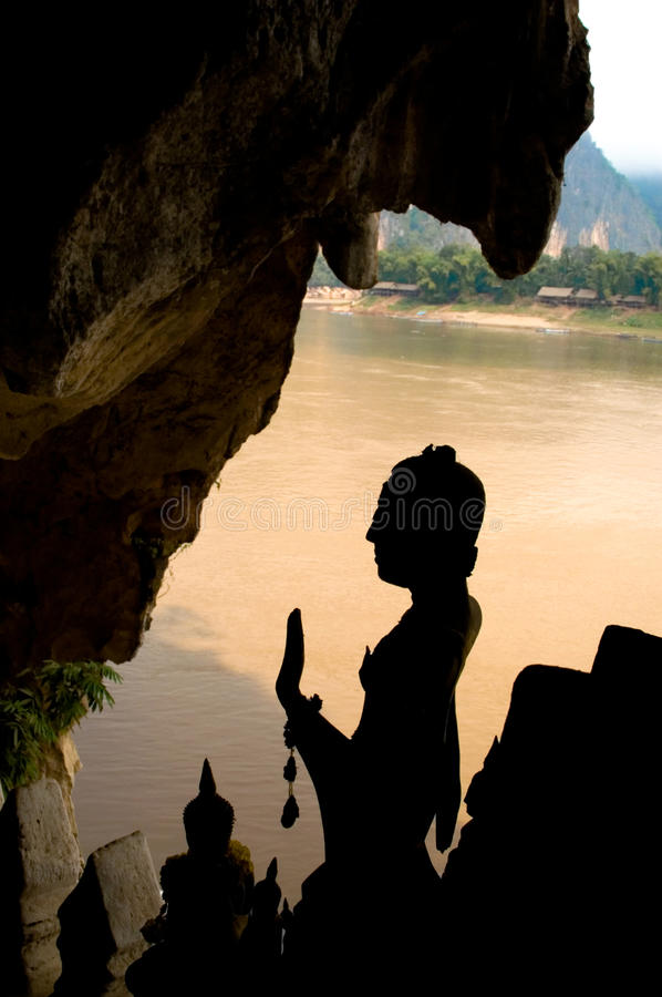 Download Pak Ou caves stock image. Image of statues, silhouette - 29899431