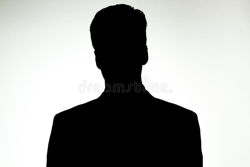 Silhouette Business Man stock photo