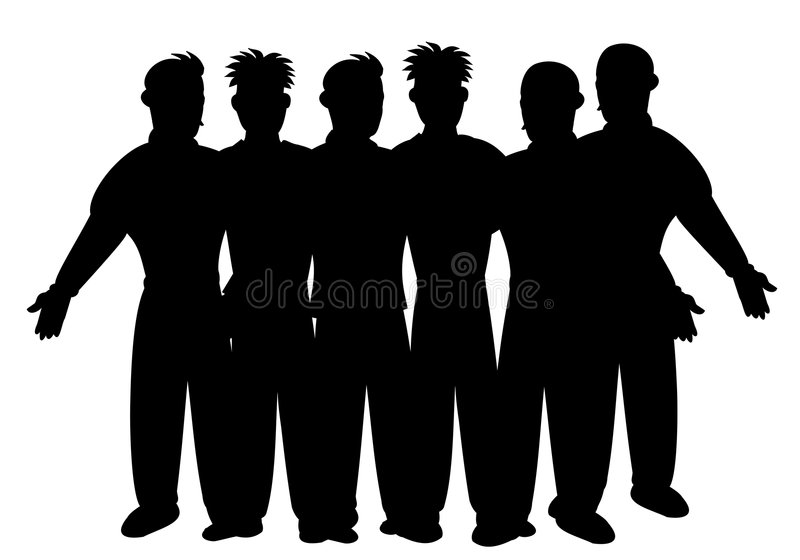 Silhouette of business team vector illustration
