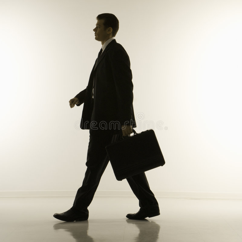 Silhouette of businessman royalty free stock image