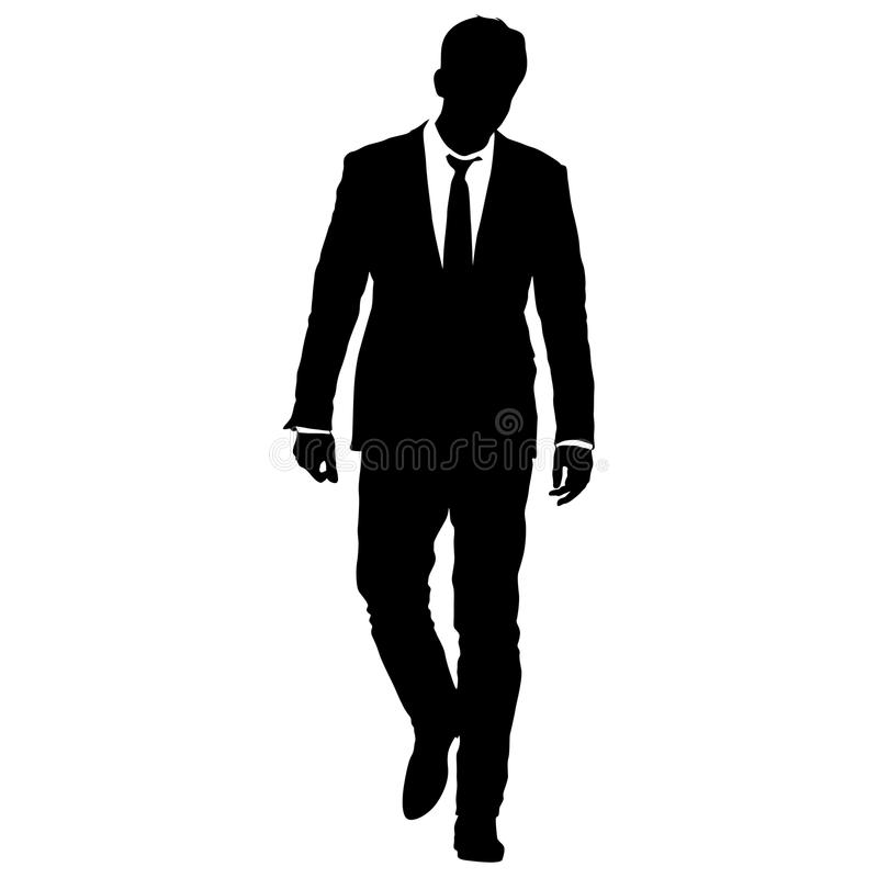 Art Unlimited Sportswear: Silhouette Businessman Man In Suit With Tie On A White