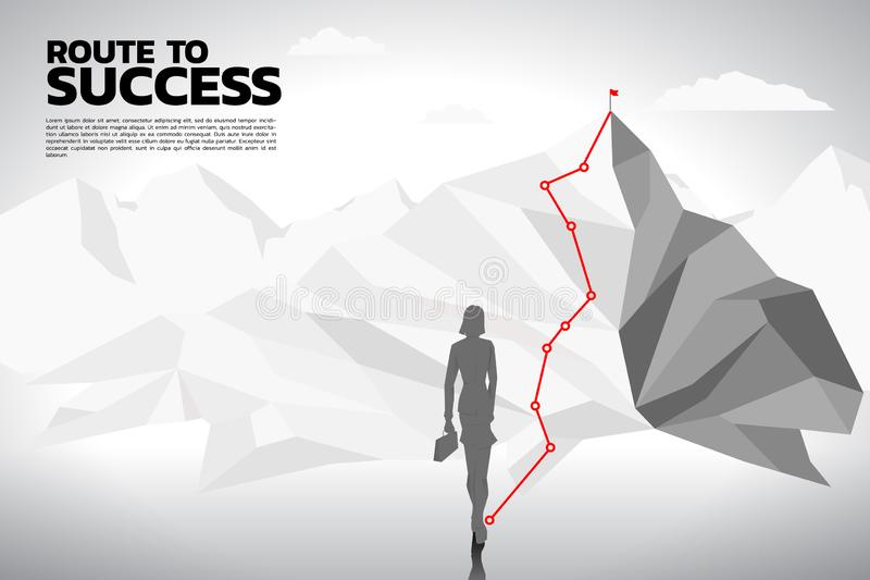 Route to the top of mountain royalty free illustration