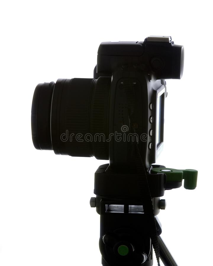 Silhouette Of Camera #1 royalty free stock photo
