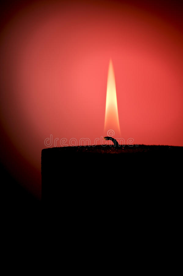 Silhouette of a candle