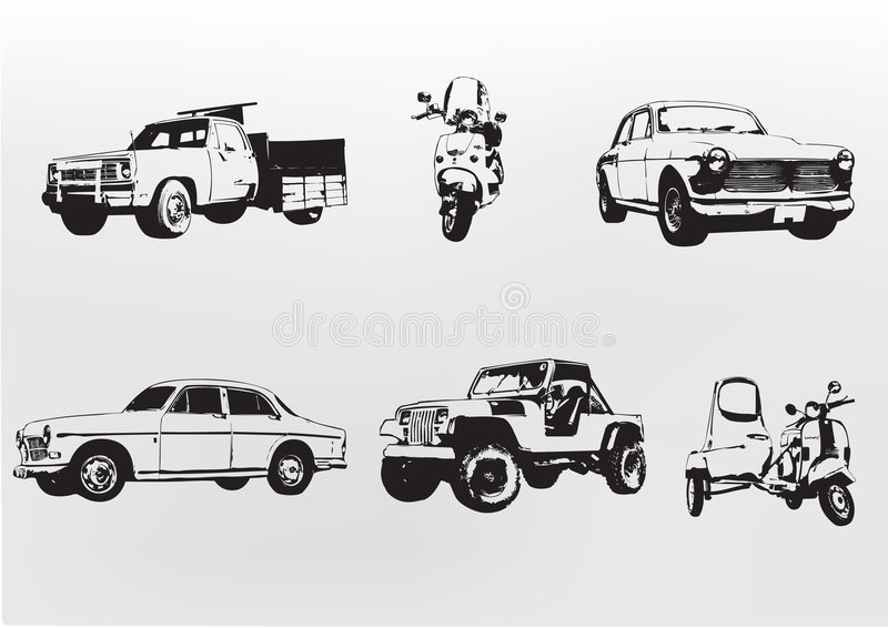Download Silhouette Cars. Stock Photos - Image: 5724423