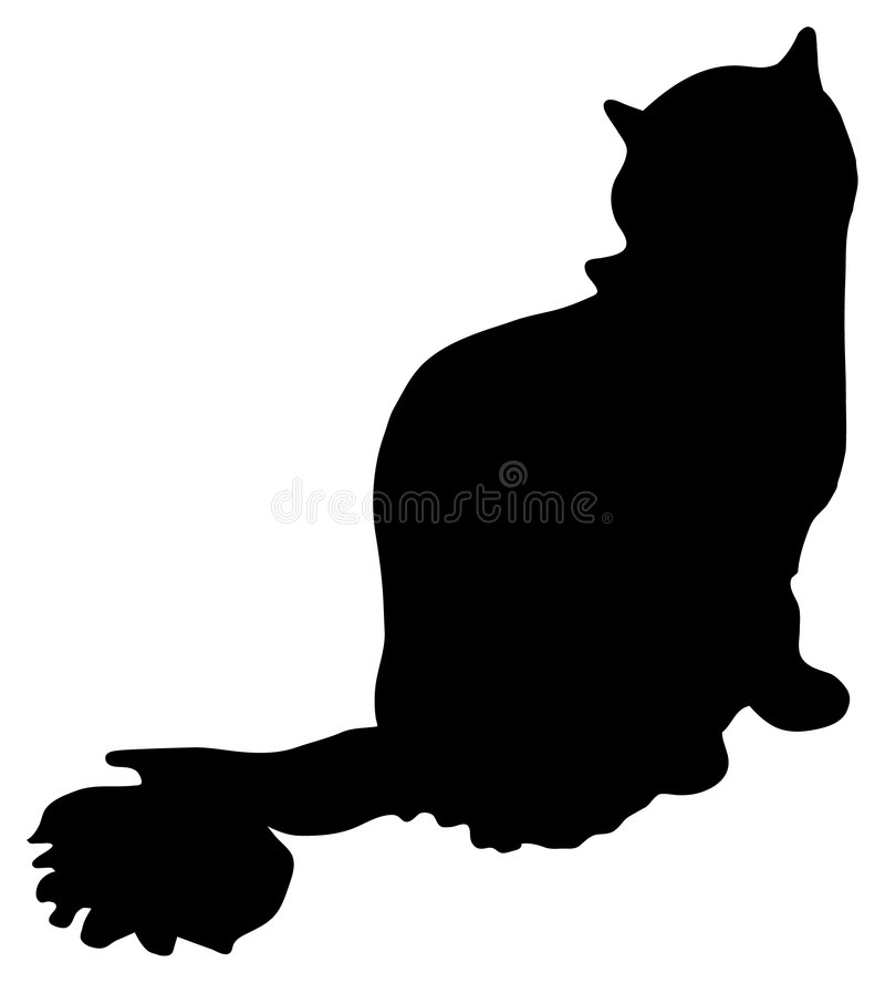 Silhouette of a cat royalty free illustration