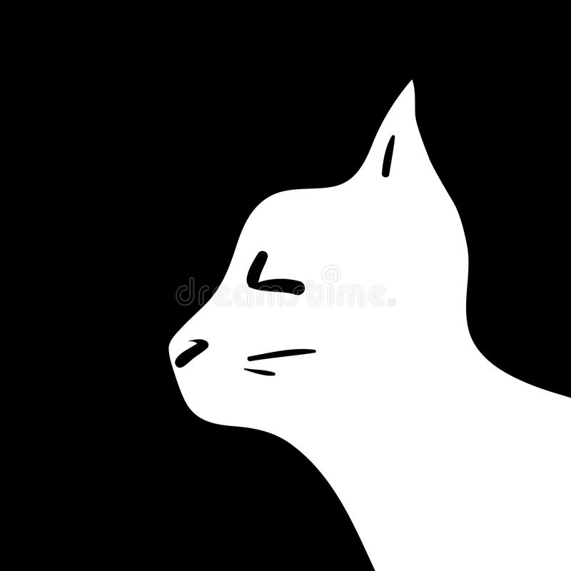 Download Silhouette of cat head stock vector. Image of silhouette - 27496444