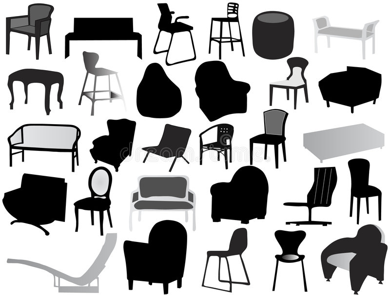 Download Silhouette of chair stock vector. Image of chair, imagery - 8130187
