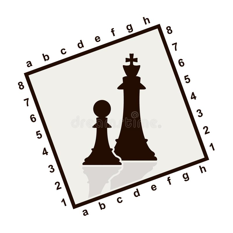 Silhouette of chess figures vector illustration