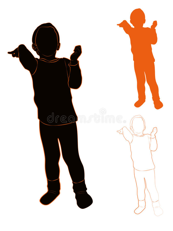 Silhouette of a child royalty free illustration