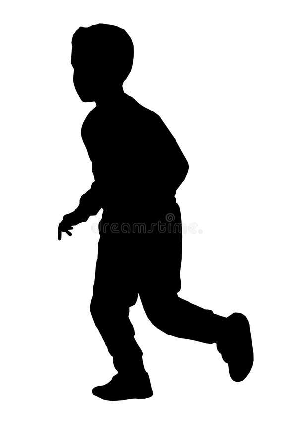 Silhouette of child running silhouette. Stock Silhouette of child running silhouette vector illustration