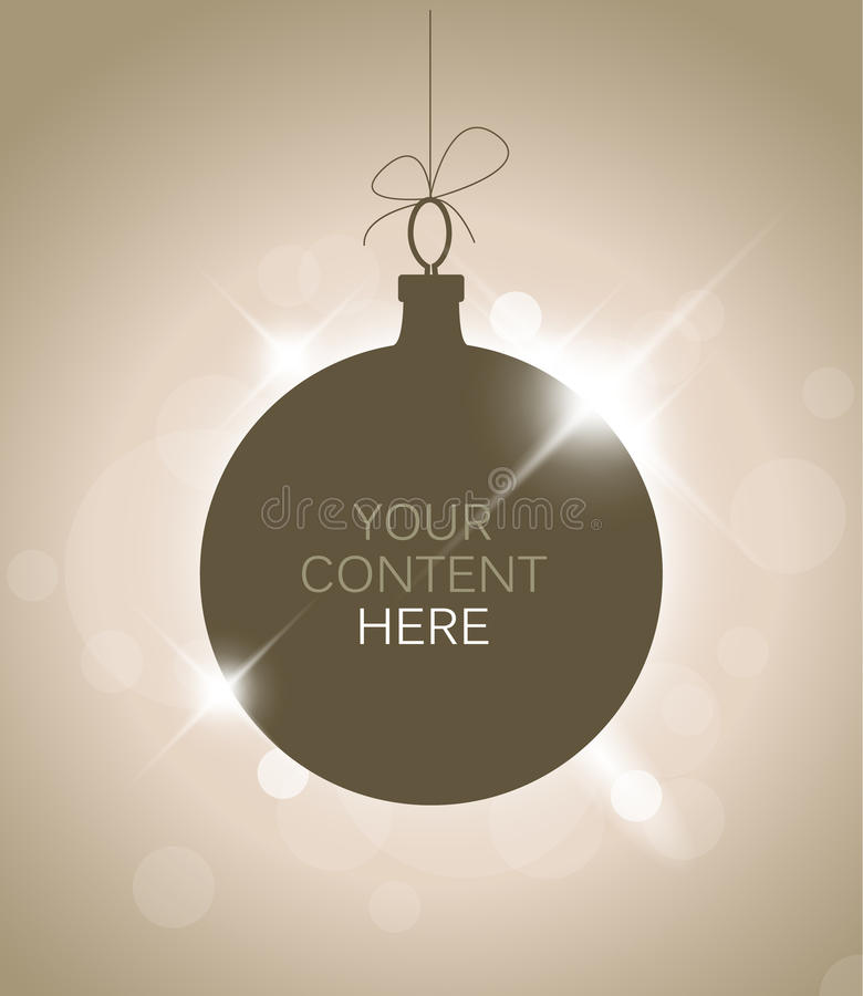 Download Silhouette Of A Christmas Decoration Stock Illustration - Image: 20715105