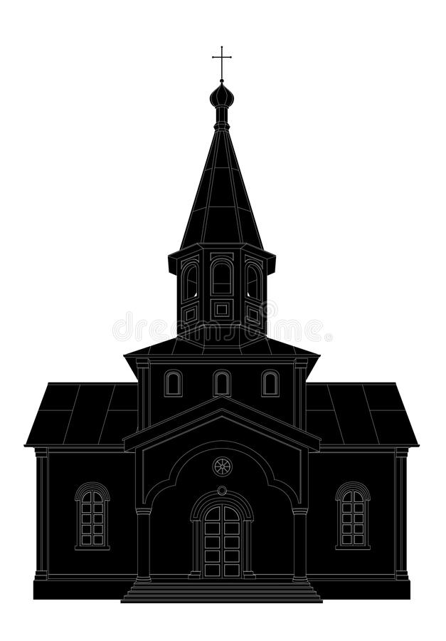 Download Silhouette of the church stock vector. Image of church - 35862340
