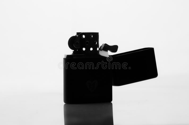 Download Silhouette Of A Cigarette Lighter Stock Photo - Image: 29905480