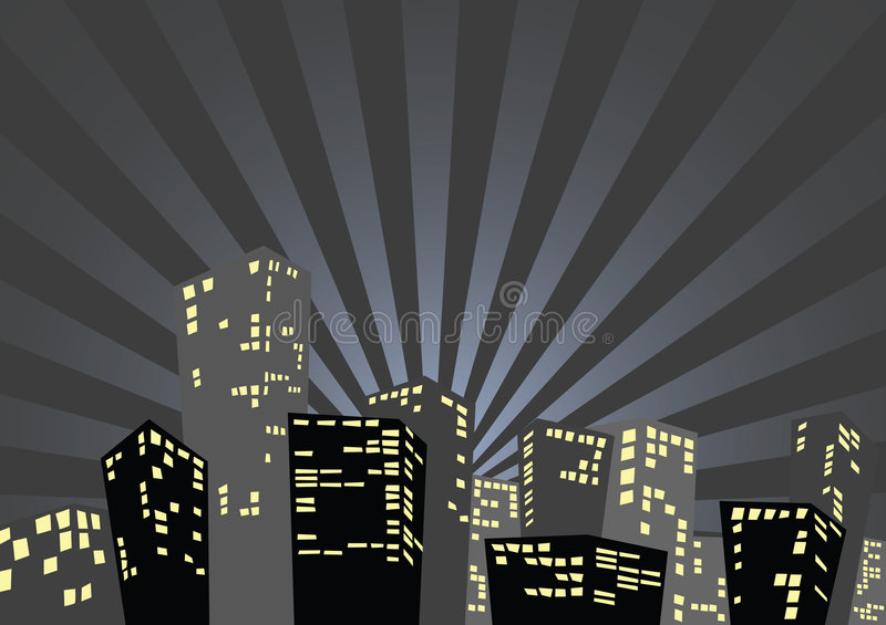 Silhouette of the city stock illustration