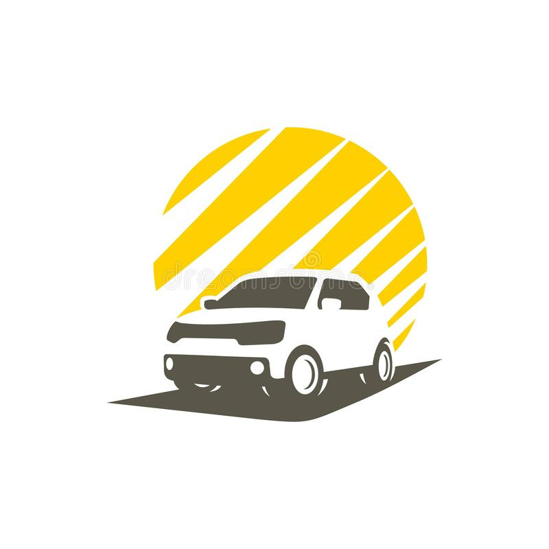 silhouette city car vector illustration