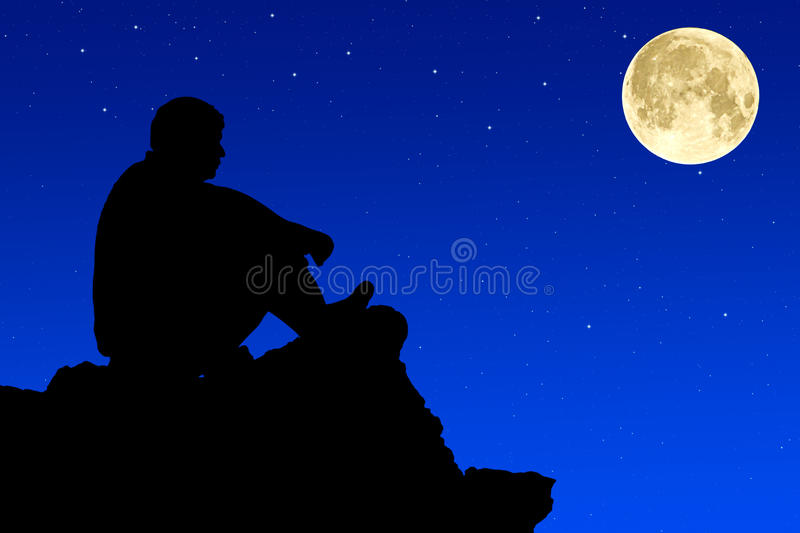 Download Silhouette  Climbers Evening. Stock Photo - Image: 21997730