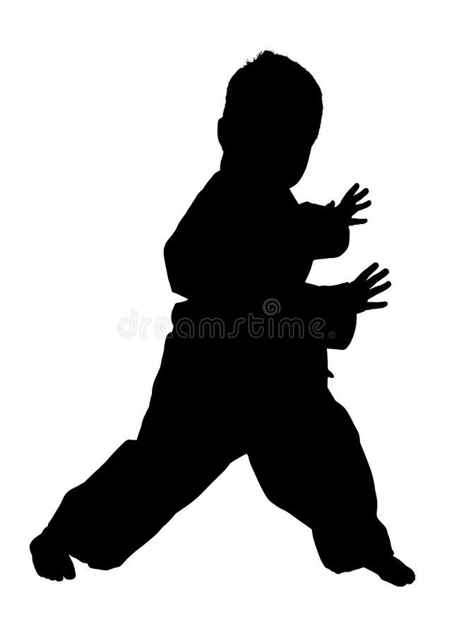 Silhouette With Clipping Path stock photography