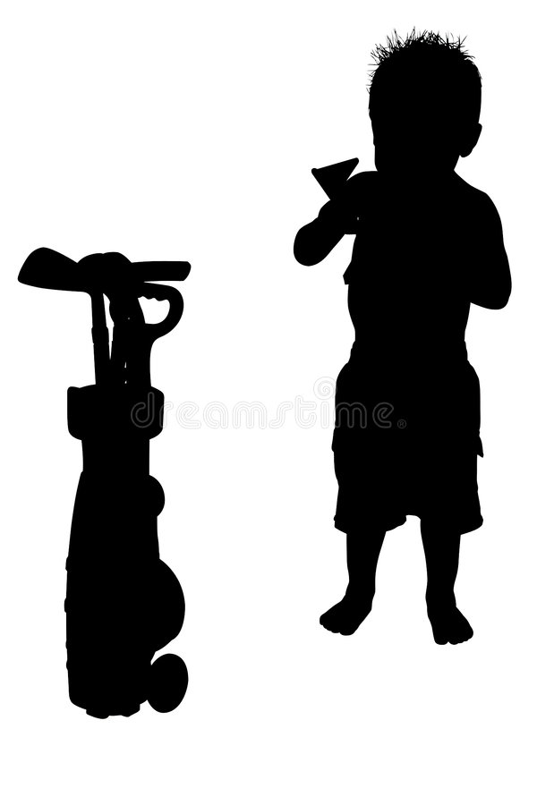 Silhouette With Clipping Path stock photo