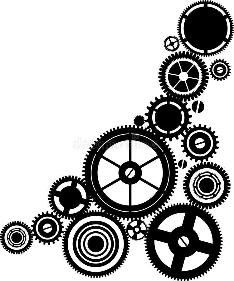 Download Silhouette clockwork stock vector. Illustration of time - 20388556