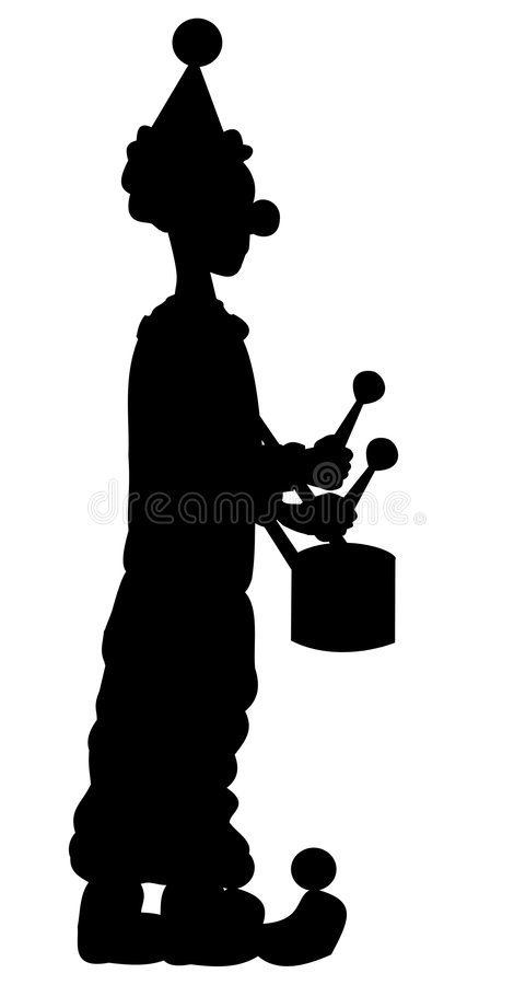 Silhouette of clown royalty free stock image