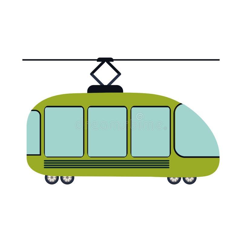 silhouette colorée avec la voiture de chariot illustration stock
