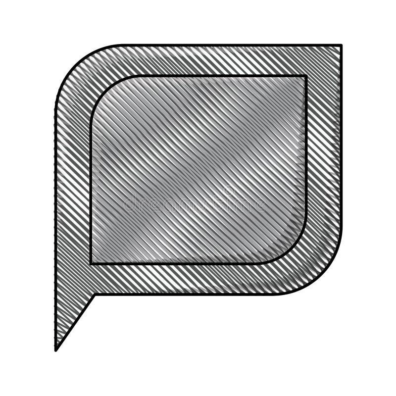 Silhouette colorée de crayon de la parole de bulle illustration libre de droits