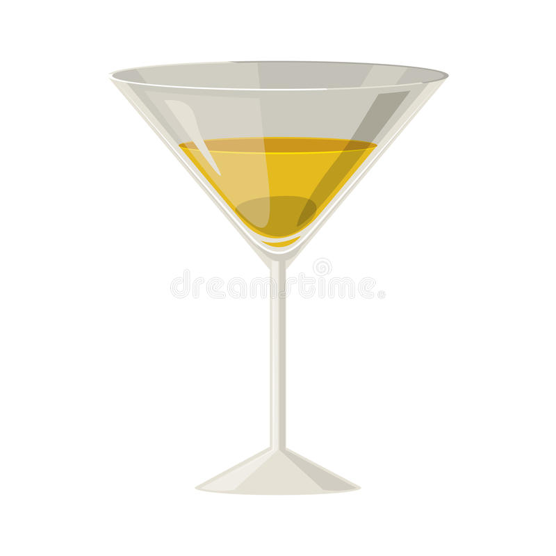 Silhouette colorful with champagne glass. Vector illustration royalty free illustration