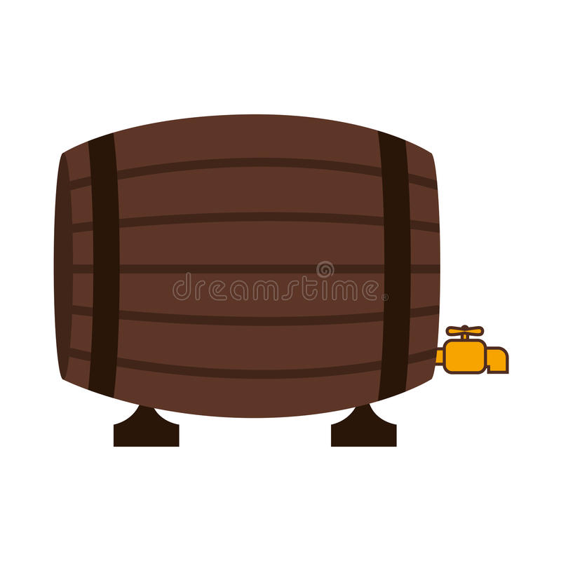 Silhouette colorful with Liquor barrel. Vector illustration vector illustration