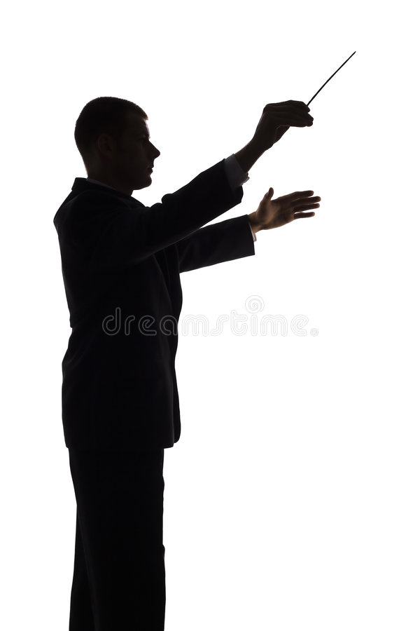 Silhouette of conductor royalty free stock image