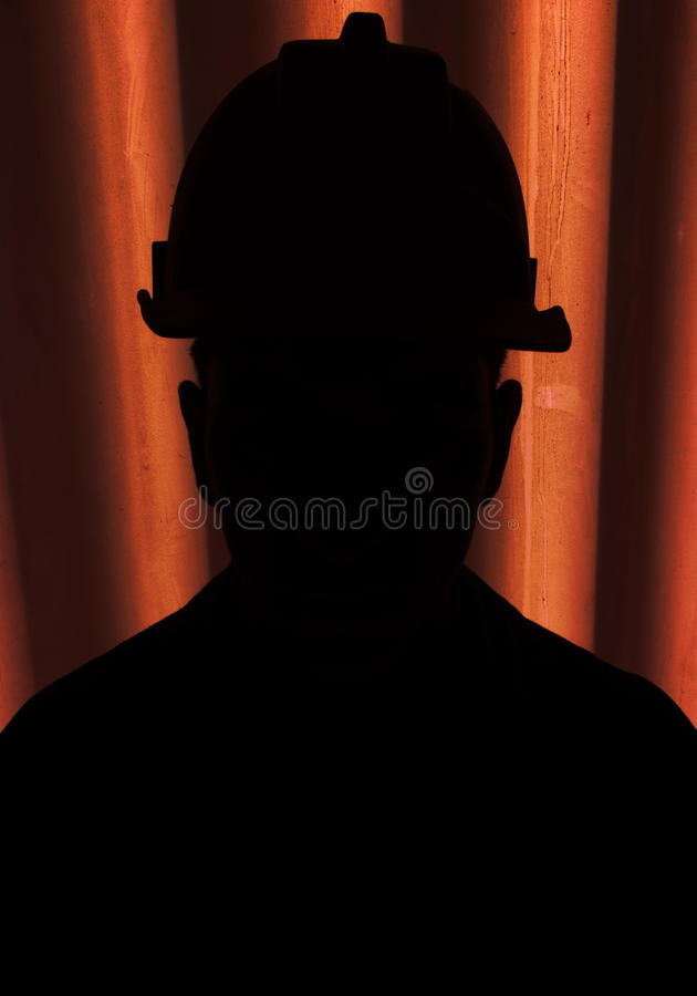 Download Silhouette Of Construction Worker Stock Photo - Image: 15944908