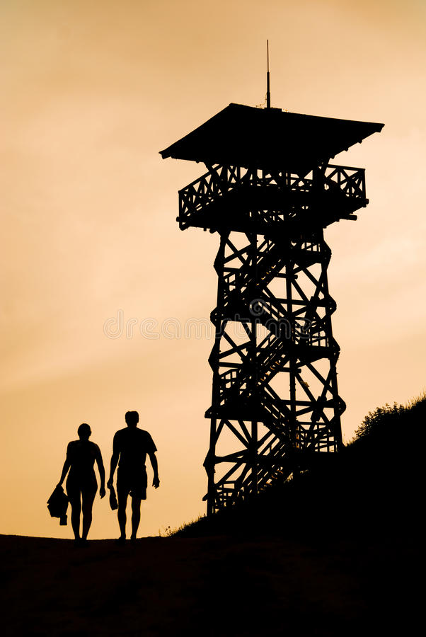 Silhouette of a couple royalty free stock images