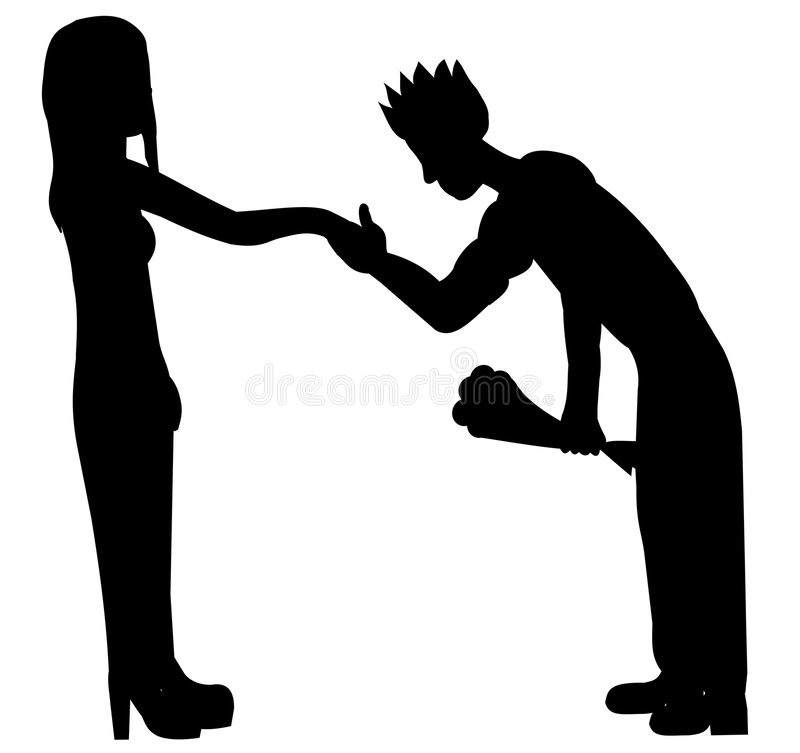Silhouette Of Couple Royalty Free Stock Photo