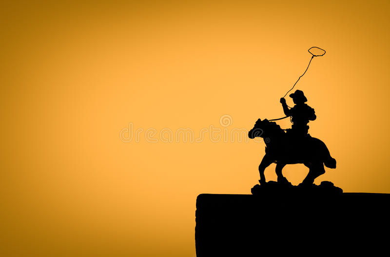 Download Silhouette Cowboy Royalty Free Stock Photos - Image: 16455428