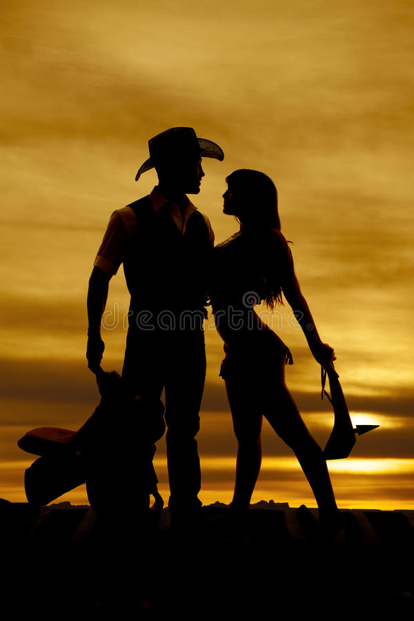 Free Silhouette Cowboy Indian Saddle Club Down Stock Photo - 36630960