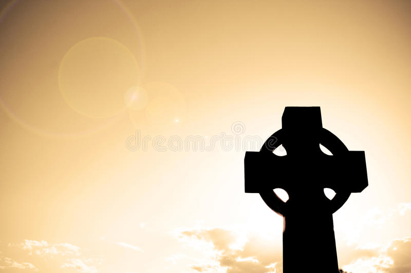 Download Silhouette of a Cross stock image. Image of dawn, lens - 15336257