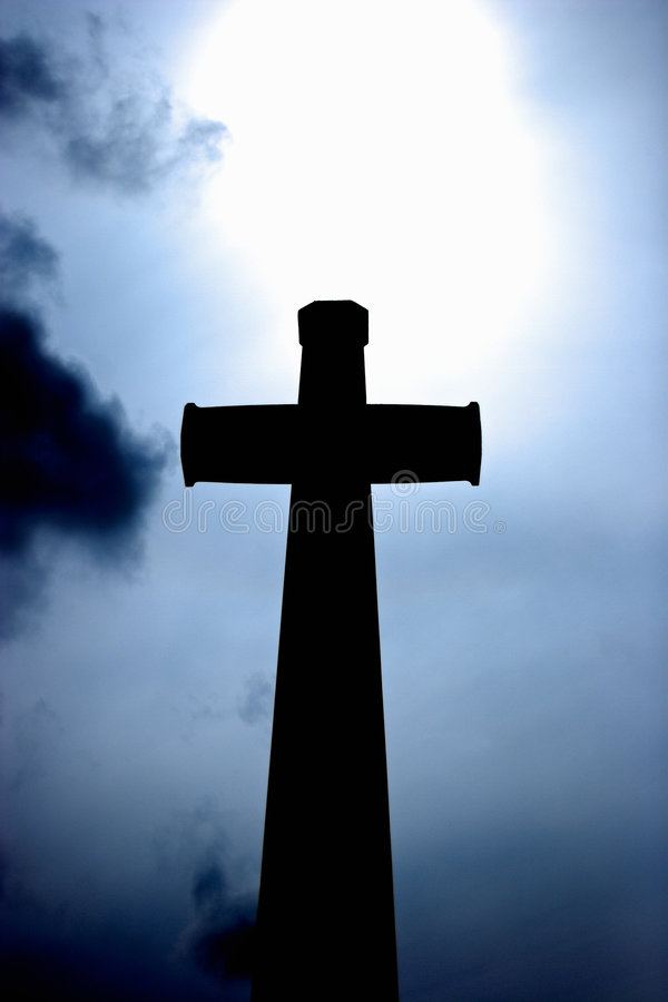 Download Silhouette Of A Cross stock photo. Image of gravestone - 8979140