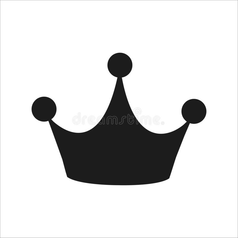 Silhouette of crown. Flat style icon royalty free illustration