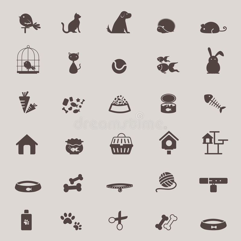 Free Silhouette Cute Animal And Pet Shop Tool Icon Design Set For Sho Royalty Free Stock Photos - 57203018