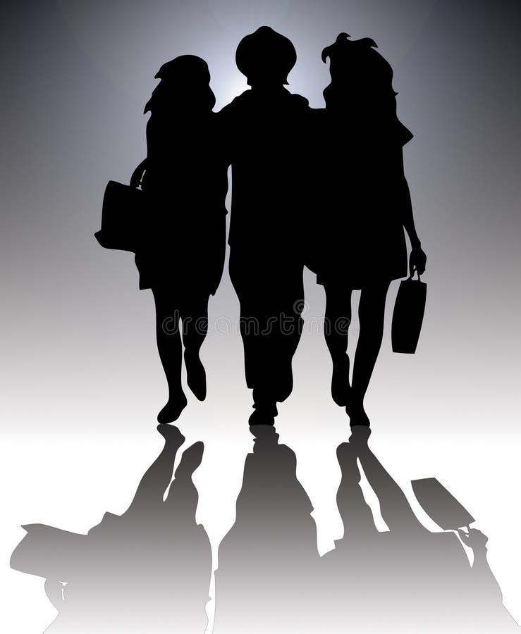 Silhouette d'achats illustration de vecteur