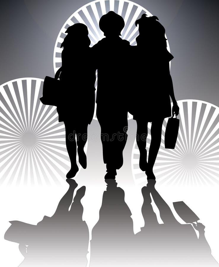 Silhouette d'achats illustration stock