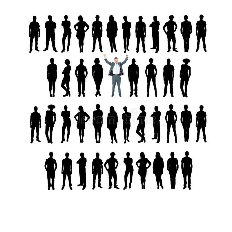 Silhouette d'affaires de vecteur, fond blanc illustration stock