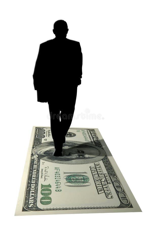 Silhouette d'amasseur d'argent illustration stock